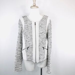 Drew by Anthropologie Sweater, Jacket Tweed Zip Up